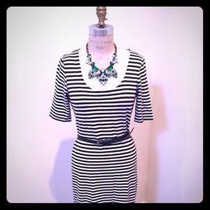 Anne Taylor striped cotton shirtdress
